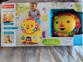 Fisher-Price 3-in-1 Sit, Stride - Ride Lion Gift Playset Toy for Baby To... - $107.77