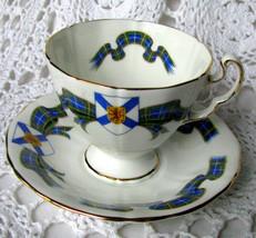 Adderley Nova Scotia Tartan Teacup and Saucer H641 Blue Tartan Sash Tea ... - $9.28