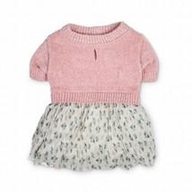 Bond & Co. Pink Chenille Knit & Floral-Print Dog Dress, X-Small By: Bond... - $15.88