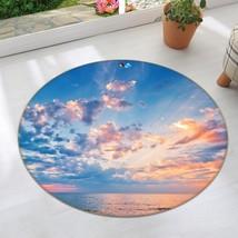 3D Clouds Dusk 0014 Non Slip Rug Mat Room Mat Round Elegant Carpet UK Carly - $106.68+