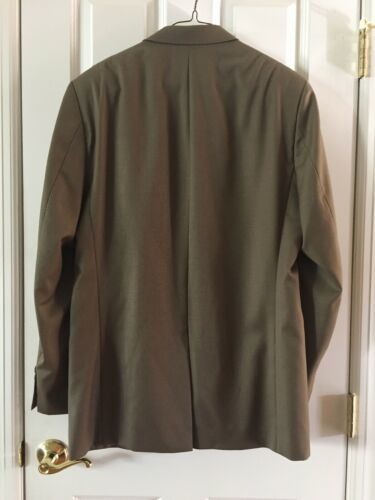 Ralph Lauren Mens 100% Wool Suit 44 Lord & Taylor Olive image 4