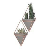 Umbra Trigg Hanging Planter Vase & Geometric Wall Decor Container - Grea... - $25.65