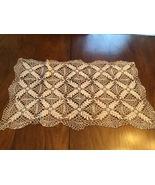 Vintage hand made crocheted rectangular doily  - $10.00