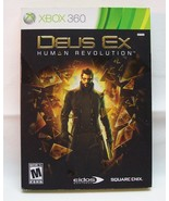 DEUS EX HUMAN REVOLUTION Microsoft Xbox 360 VIDEO GAME COMPLETE - $14.85