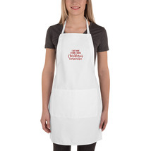 Embroidered Apron Bake & Watch Christmas movies - $23.00