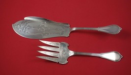 Cottage by Gorham Sterling Silver Fish Set 2pc BC Engine Turned Fork w/ Dolphin - $509.00