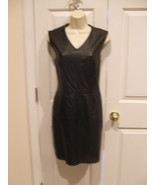 new in pkg newport news/styleworks all leather sheath dress size 8 - $111.37
