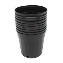 10 Pack Nursery Pots 2 Gal Plastic Garden Containers Herb Plant Vegetabl... - ₹1,819.57 INR