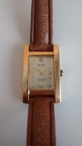 Vintage Armitron Now Ladies Watch Gold Tone Diamond Quartz Analog Rectan... - $14.99