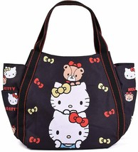 Sanrio Hello Kitty Mimmy Tiny Chum Black Diaper Bag Big Balloon Tote Jap... - $56.10