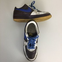 Nike Air Force 1 INSIDE OUT Brown Blue White Laser Mens Sz 9.5 Low Sneakers - $98.95