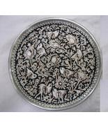 Decorative Ghalamzani Hand Engraved Copper Dish (25cm) - Flower and Bird... - $29.00