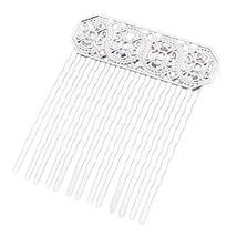 3 Pcs Silver Side Comb Chinese Old Style Hairpin Decorative Hair Combs DIY Brida