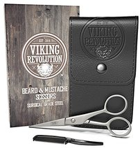 BEST DEAL Beard and Mustache Scissors w/Comb and Synthetic Leather Case Professi image 7