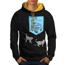 Kitty Fish Sea Ocean Cat Sweatshirt Hoody  Men Contrast Hoodie - $23.99+