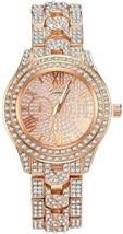 UUJOLIE Unisex Diamonds Studded Alloy Geneva Watch Luxury Shiny Watches For Men - $47.95