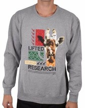 LRG Lifted Research Group Safari Giraffe Men's Crew Neck Sweatshirt NWT
