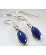 Very Small Lapis Marquise 925 Sterling Silver Earrings - $4.46