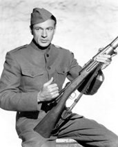 Gary Cooper B&W 16X20 Canvas Giclee Sergeant York With Rifle - $69.99