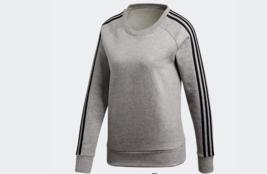 NWT Adidas Women's Essentials 3-Stripe Fleece Sweatshirt XS $45 - $29.69