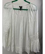 INC International Concepts Peony Garden Bright White Women's Blouse Size... - $29.69