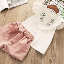 Toddler Girls Clothing Sets 2019 Summer Girls Clothes T-shirt+Shorts Out... - $13.30+