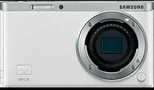 Samsung SMART CAMERA NX Mini Body only White /20.5MP W-iFi NFC NO BATTERY