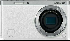 Samsung SMART CAMERA NX Mini Body only White /20.5MP W-iFi NFC NO BATTERY image 1