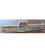 Vintage UNITED AIRLINES Junior Stewardess Silver Kiddie Metal Lapel Pin,... - $19.95