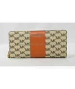 Michael Kors Center Stripe Travel Continental Wallet/Wristlet in Natural... - $159.00