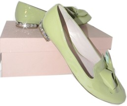 Miu Miu-Prada Lime Patent Leather Bow Ballet Flat Ballerina Shoe 40.5-10... - $329.91