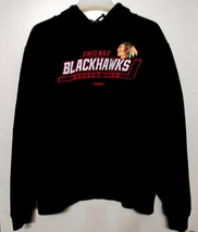 Reebok Face Off Chicago Blackhawks Hockey Club Hooded Sweatshirt SZ Men'... - $12.00