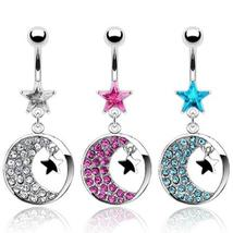 Crystal Moon and Stars Belly Jewelry - $14.99