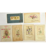 GR39 Lot of 11 Divided Back Postcards with Embroidery Not Posted VG-EX - $30.00