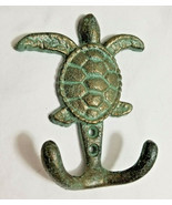 Cast Iron Sea Turtle Wall Hook Nautical Tiki Bar Man Cave Beach House - £9.46 GBP