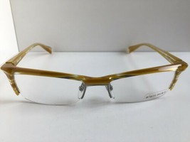 New ALAIN MIKLI AL 0884 AL0884 0006  53mm Yellow Semi-Rimless Eyeglasses Frame - $436.59