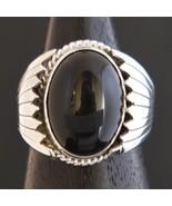 Navajo Sterling Silver BLACK ONYX Ring s8 Handmade by Native American RA... - $209.00