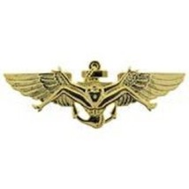 US Navy Bush Wing  Gold Badge Pin   - $9.89