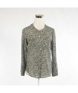 Black white floral print 100% cotton HOLDING HORSES long sleeve blouse 6P - $29.99