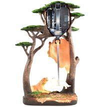 Africa Safari Lion Pride Big Cat Pendulum Mantle Desk Shelf Quartz Clock image 5