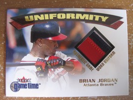 BRIAN JORDAN 2001 FLEER GAME TIME UNIFORMITY GAME-WORN UNIFORM PATCH  - $4.70