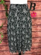 Anne Klein Skit size 12 Dark Gray Polka Dots Silk Sheer Calf Midi Flared... - $29.97