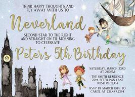 Peter Pan Birthday Invitation, Peter Pan Birthday, Peter Pan Invite - $0.99