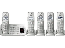 Panasonic Consumer KX-TGE475S Link2Cell Bluetooth with 5 Handsets - $155.96