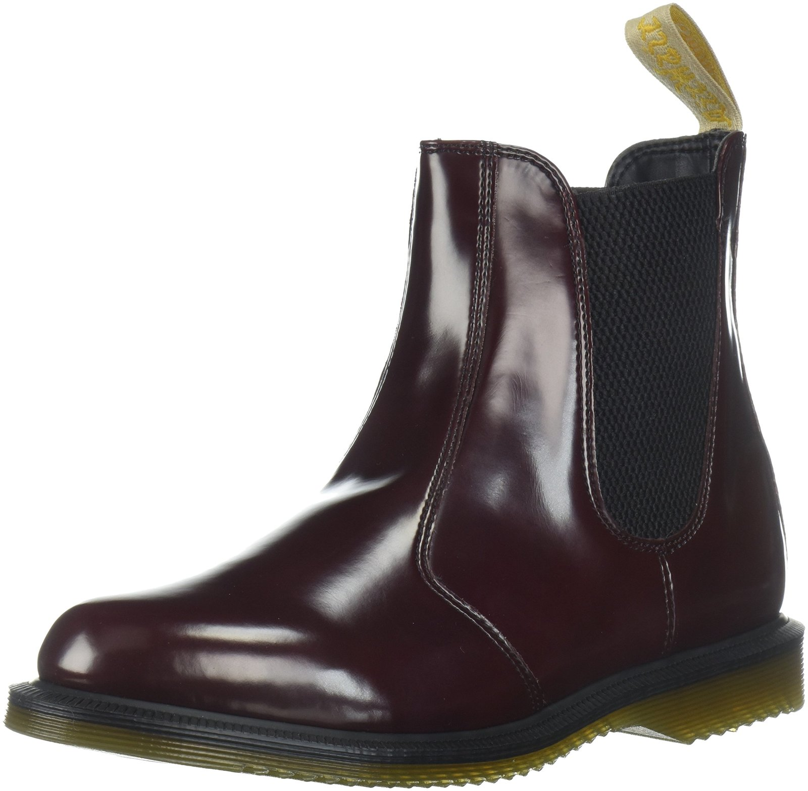 654cc38eb220d 81sdh9filel. 81sdh9filel. Previous. Dr. Martens Women's Vegan Flora Chelsea  Ankle Boot, Cherry Red, 5 Medium UK