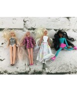 Vintage 1990's Mcdonalds Toys Barbie Lot Of 4 Synthetic Hair Rollerblade... - $11.88