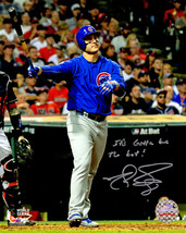 MATT SZCZUR Signed Cubs Anthony Rizzo 2016 WS HR With His Bat 8x10 Photo... - $98.01