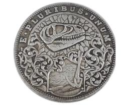 Hobo Nickel Dinosaur Archeological Bone Skull Morgan Dollar American Nic... - $10.44
