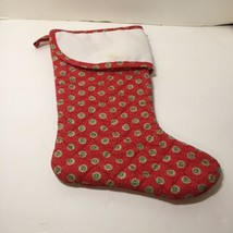 """Red Green Quilted Christmas Stocking with 14 Count Aida Cuff 15"""" Long - $19.34"""