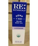 Re Botanicals-- Hemp Relief Body Oil-- Lavender-- Rollerball-- 10ml NIB - $39.99